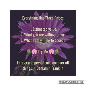 🌸🌵💖💰 Everything Has Three Prices 💰💖🌵🌸